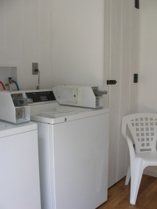 Next we added a laundry where there was no laundry.